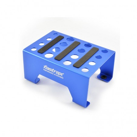 Fastrax Aluminium 1/10 - 1/8 Pit Stand With Magnetic Strip Blue