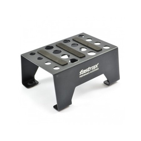 Fastrax Aluminium 1/10 - 1/8 Pit Stand With Magnetic Strip Black