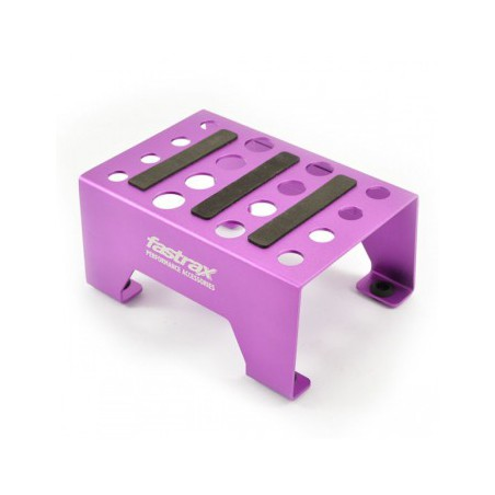 Fastrax Aluminium 1/10 - 1/8 Pit Stand With Magnetic Strip Purple