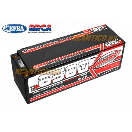 LiPo battery 6500 mAh HV 15.2v 4S 120C Voltax Team Corally