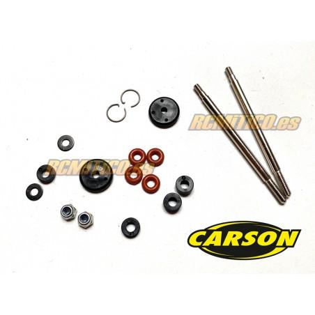 CA52035 - Vastagos y pistones amortiguador delantero Carson 1/8