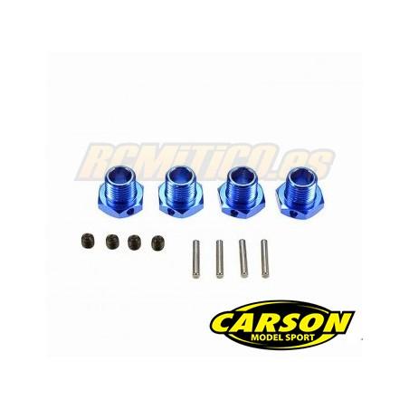 CA205439 - Hexagonos rueda 17mm y tuercas SET Carson 1/8