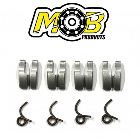 4 Clutch shoes Aluminum + Springs Ministry of Bearing
