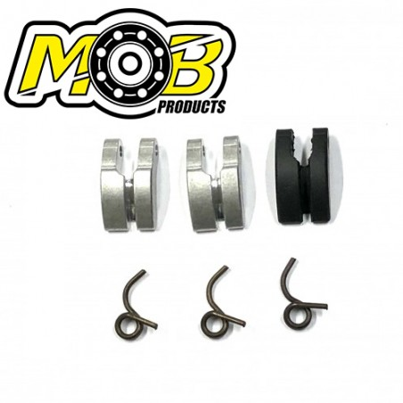 3 Clutch shoes Carbon Aluminum + Springs Ministry of Bearing