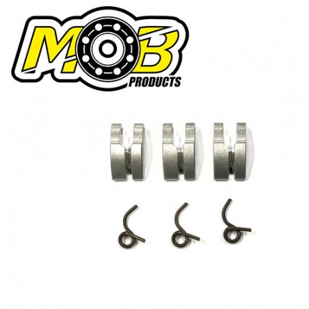 3 Clutch shoes Aluminum + Springs Ministry of Bearing