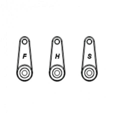 Horns de servo direccion Plastico Futaba Hitec Sanwa