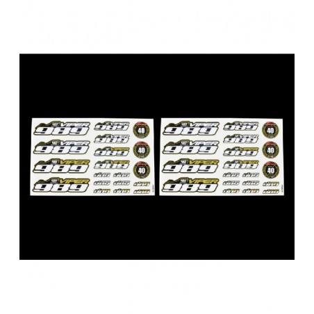 Decal sheet Viper 989 40th Anniversary Serpent
