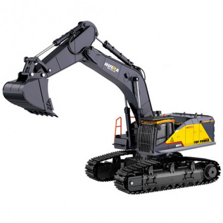 RC Excavator Huina 1592 1/14 22ch Die Cast Cab and Bucket