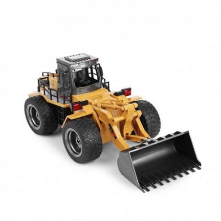 Bulldozer Retroexcavadora Metalica 1/14 Huina 1583 10ch