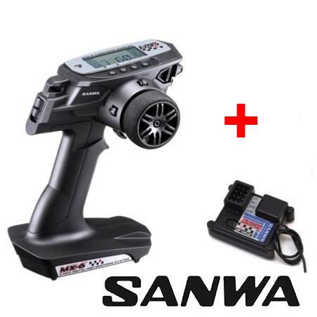 Transmitter SANWA MX6 3 Channel + Receiver RX391W