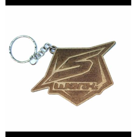 Sworkz lasered keychain Wood 3mm