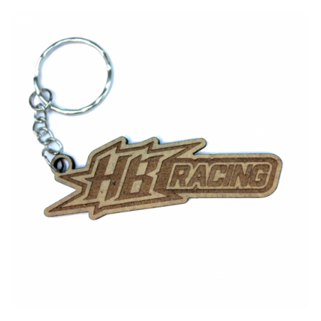 HB Racing lasered keychain Wood 3mm