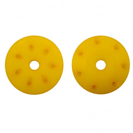 16mm CONICAL SHOCK PISTONS 1.2mm x 8 angled holes YELLOW x2 pcs