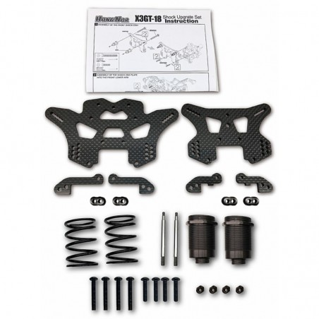Shock towers Carbon Fiber and shock absober Set X3GT