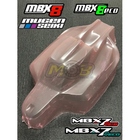 Mugen MBX7R MBX8 Silencer Clear body Not Painted
