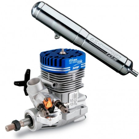 Motor OS Max 105HZ-R Helicopter 2T Silencer Power Boost 105