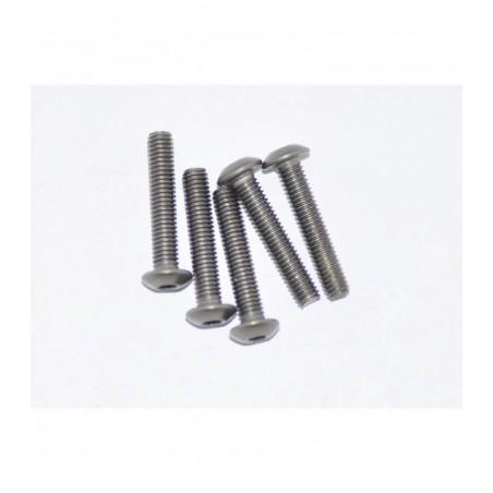 AM-15RH3016 - Round head titanium M3x16mm screw x5 pcs