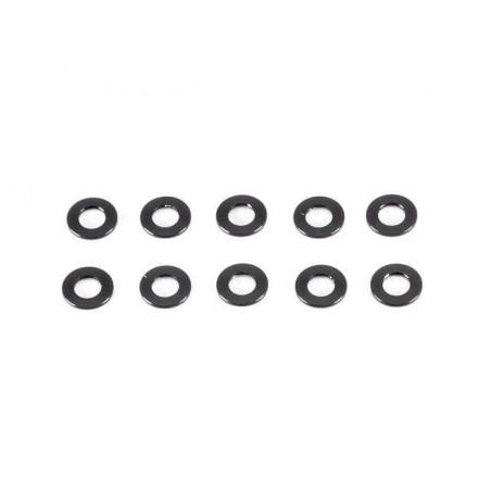 Aluminum washer 3x6x0.5mm Black x10 pcs