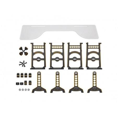 Mesa setup Arrowmax  1/10 Off Road Black Golden Edicion Limitada