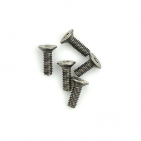 Titanium screw allen countersunk M4X12 mm x5 pcs