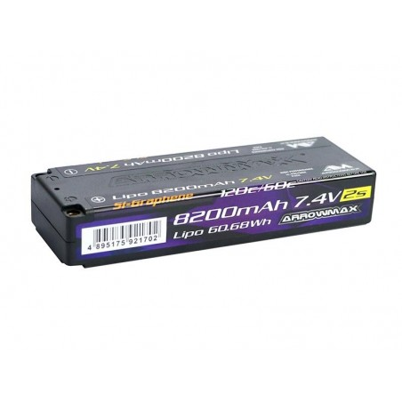 Bateria Lipo Competicion 2S 7.4v 8200mAh 120C-60C Graphene