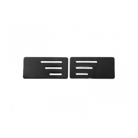 Wing endplate w/z slit 1/10 black - 0.5mm x2 pcs