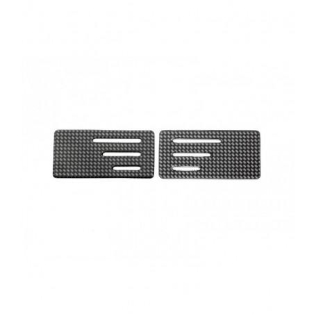 Wing endplate w/z slit Carbon 1/10  0.8mm x2 pcs