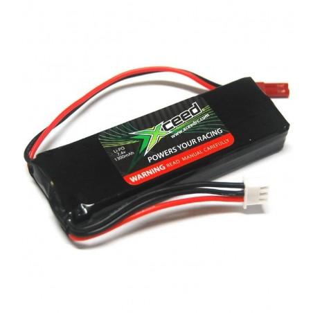 Batera recargable LiPo receptor 7,4v 1300mAh Xceed