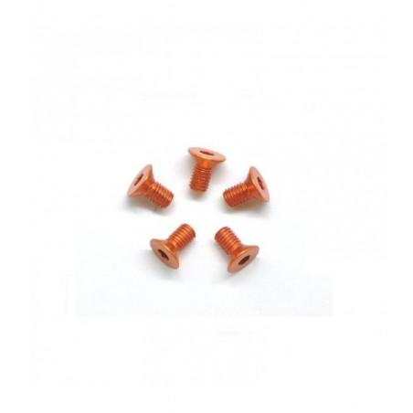 Aluminum allen screw countersunk M3X6mm orange x5 pcs