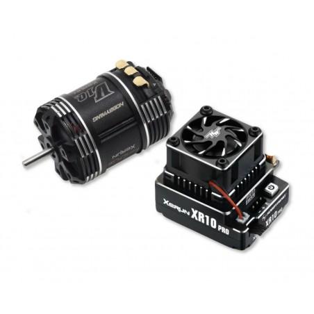 Combo system Hobbywing XR10 Pro G2 + V10 10.5T G3 Black