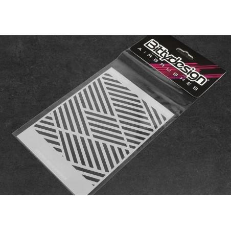 Airbrushing Vinyl stencil Ipnotic V3 Bitty Design