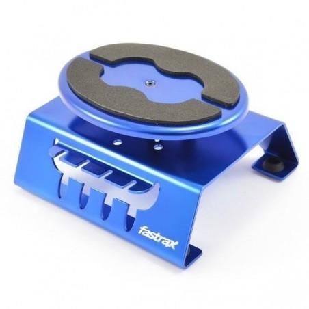 FAST407B - Rotating Aluminum car stand blue Fastrax