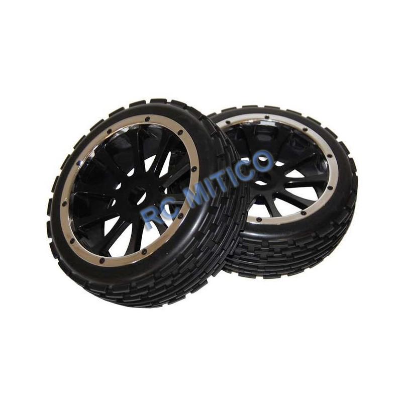 51023 - Front tires 1/5 HSP Bajer Complete Set x2 pcs