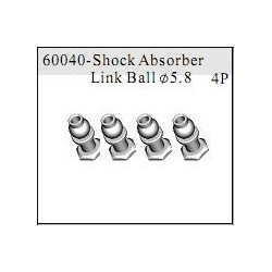 60040 - Shock Absorber Link Ball O5.8 x4 uds.