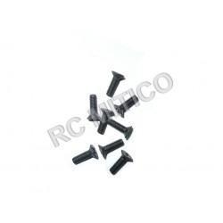 61025 - Countersunk Mechnical Screw 3x10 mm - 8 uds.