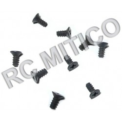 86078 - Countersunk Self Tapping Screw 2.6x6 mm - 9 uds.
