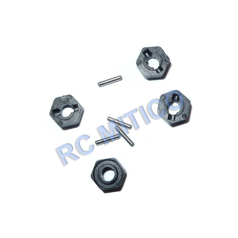82814 - Hexagonos y pasadores 1.5x8mm x4 uds.