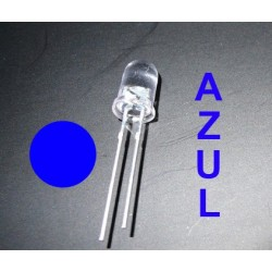 1 LED de color AZUL - 3 mm