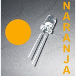 1 LED de color NARANJA - 5 mm