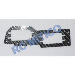 81009CA - Placa soporte de servos Carbono HSP 1/8