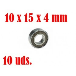 3RB-6700-2RS/10 - Rodamientos 10x15x4mm con Teflon