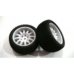 6273 - Rueda Truggy 1/16 - Hex. 9 mm - Blanca - x2 uds.