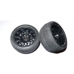 6440 - Rueda Truggy 1/16 - Hex. 9 mm - Negra - x2 uds.