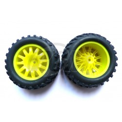 6454 - Rueda Monster T. 1/16 - Hex. 9 mm - Amarilla - x2 uds.