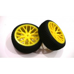 6474 - Rueda Buggy 1/16 - Hex. 9 mm Amarilla x2 uds.