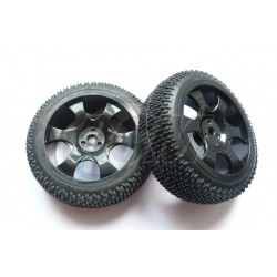6475 - Rueda Buggy 1/16 - Hex. 9 mm Negra x2 uds.