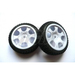 6476 - Rueda Buggy 1/16 - Hex. 9 mm - Blanca x2 uds.