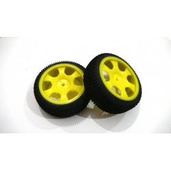 6477 - Rueda Buggy 1/16 - Hex. 9 mm Amarilla x2 uds.