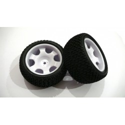 6482 - Rueda Truggy 1/16 - Hex. 9 mm - Blanca - x2 uds.