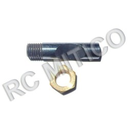 R098 - Shaft + nut for carburator